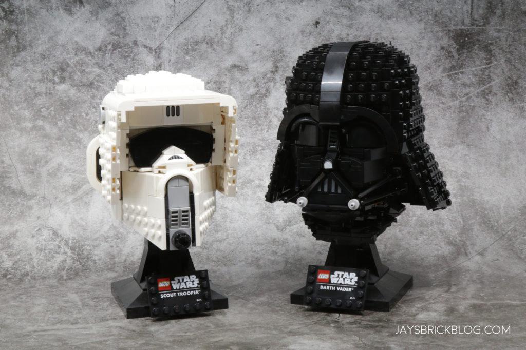 LEGO 2021 Star Wars Helmets Scout Trooper Darth Vader