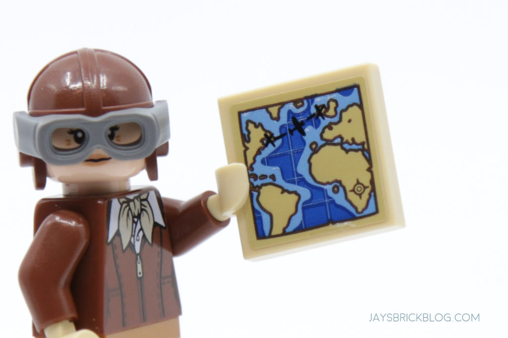 LEGO Amelia Earhart Map