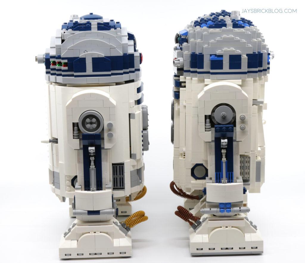 LEGO 75308 UCS R2 D2 Comparison Side