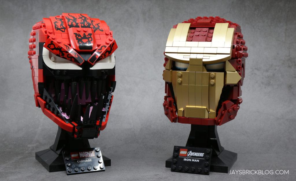 LEGO 76199 Carnage Iron Man Comparison