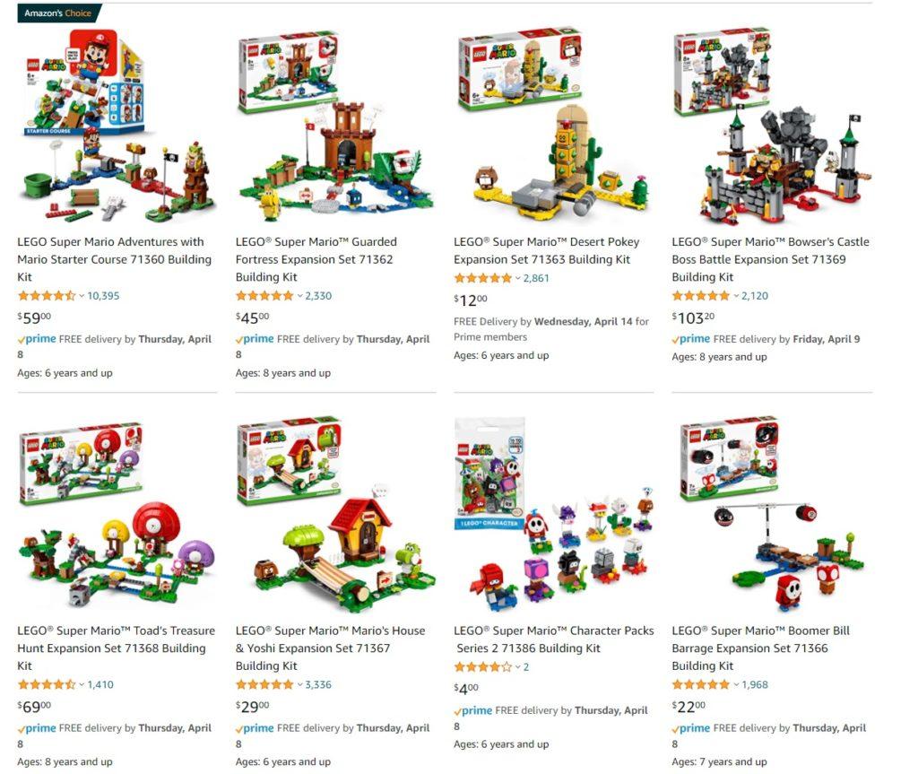 LEGO Amazon Easter Sale Super Mario