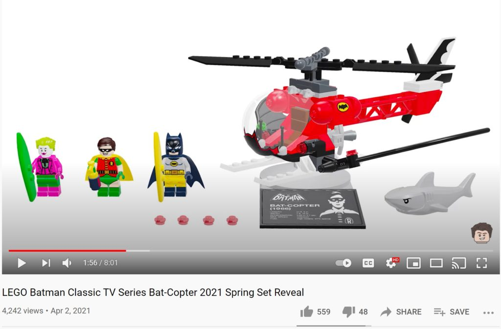 LEGO Batman Classic TV Series Batcopter