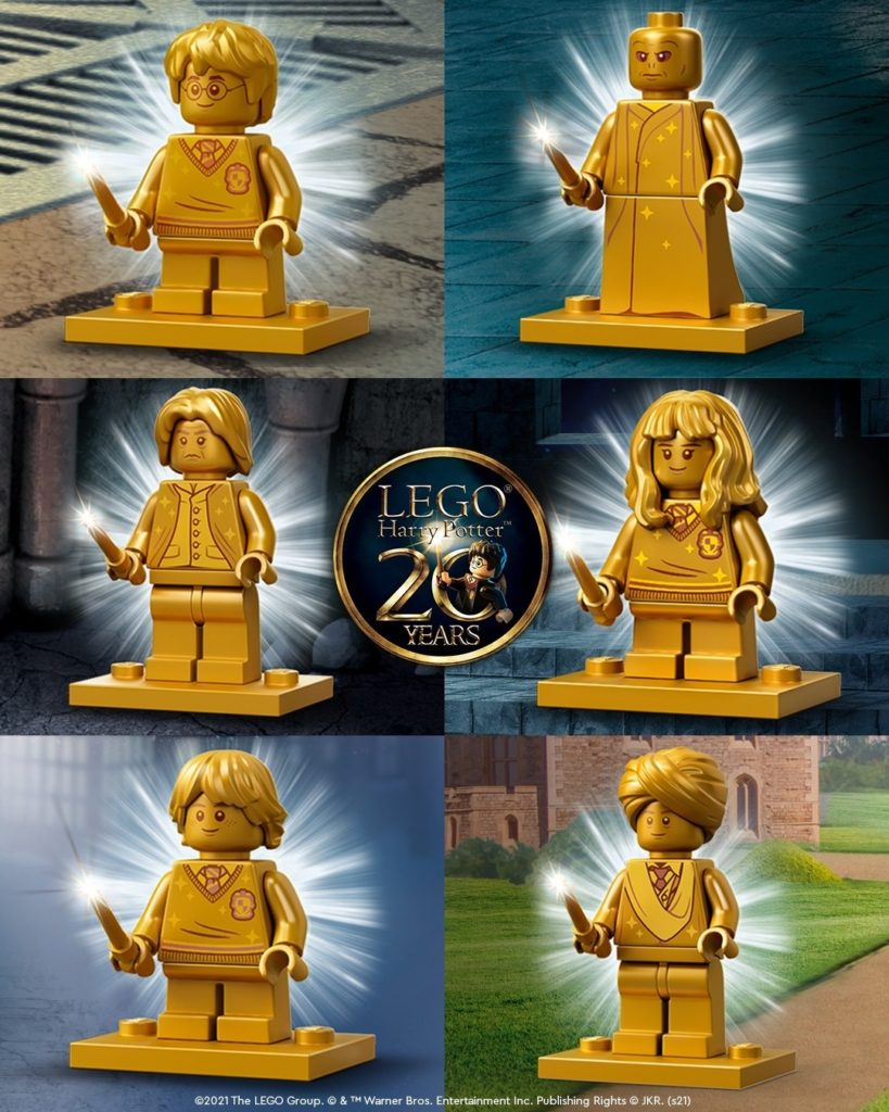 LEGO Harry Potter 20th Anniversary Golden Minifigs