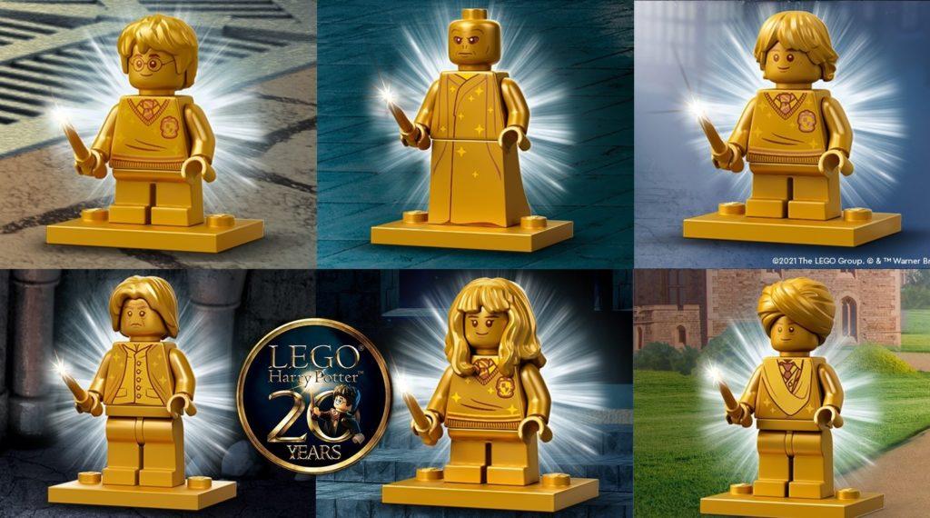 LEGO Harry Potter 20th Anniversary Golden Minifigures