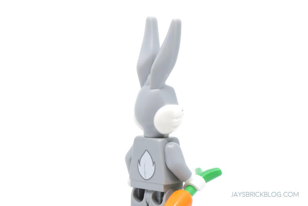LEGO Looney Tunes Minifigures Bugs Bunny Back