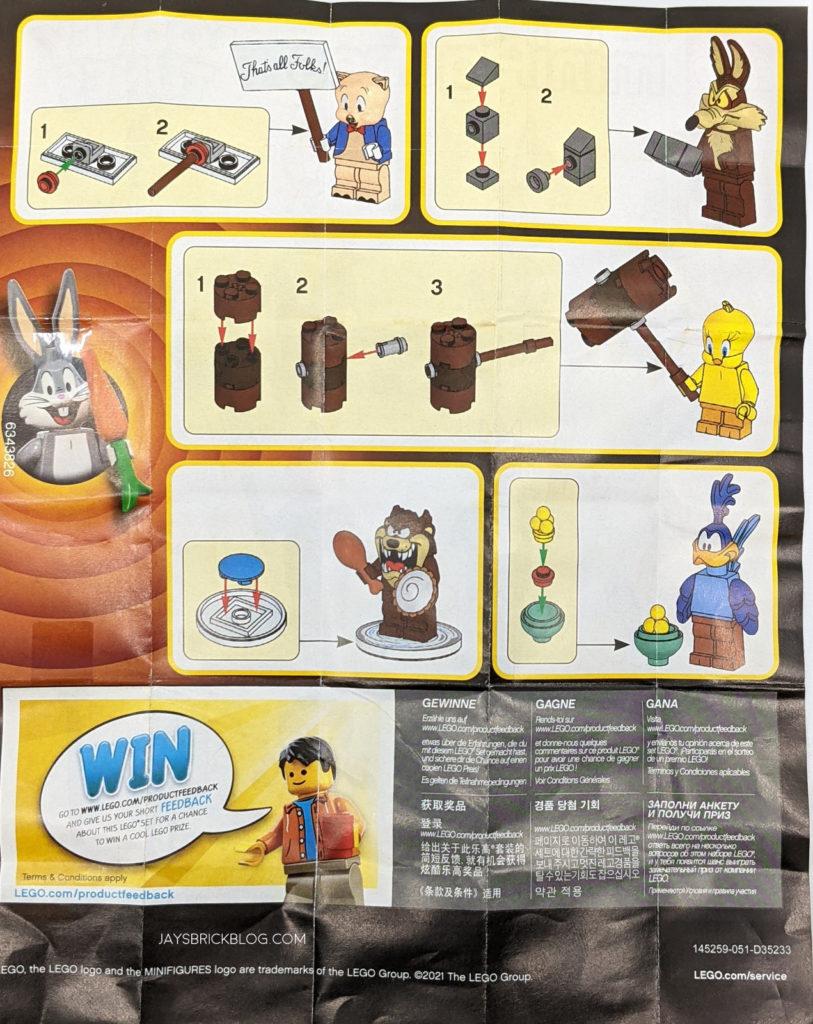 LEGO Looney Tunes Minifigures Manual Instructions