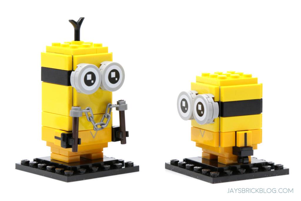 LEGO Minions Kevin and Bob Kungfu Brickheadz Eyes