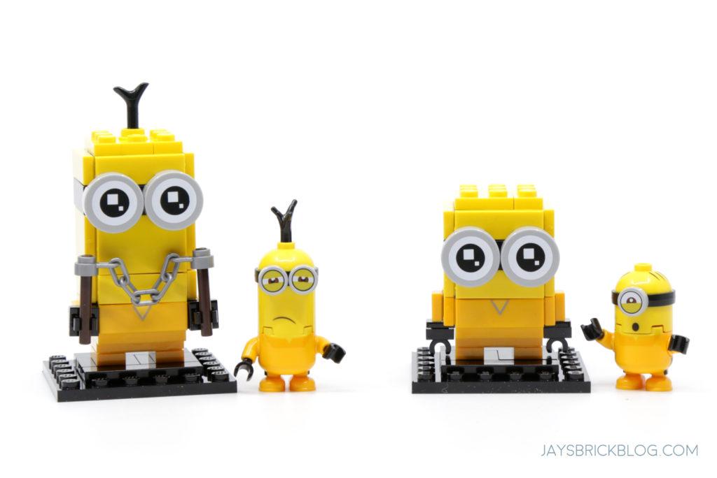 LEGO Minions Kevin and Bob Kungfu Brickheadz Minifigure