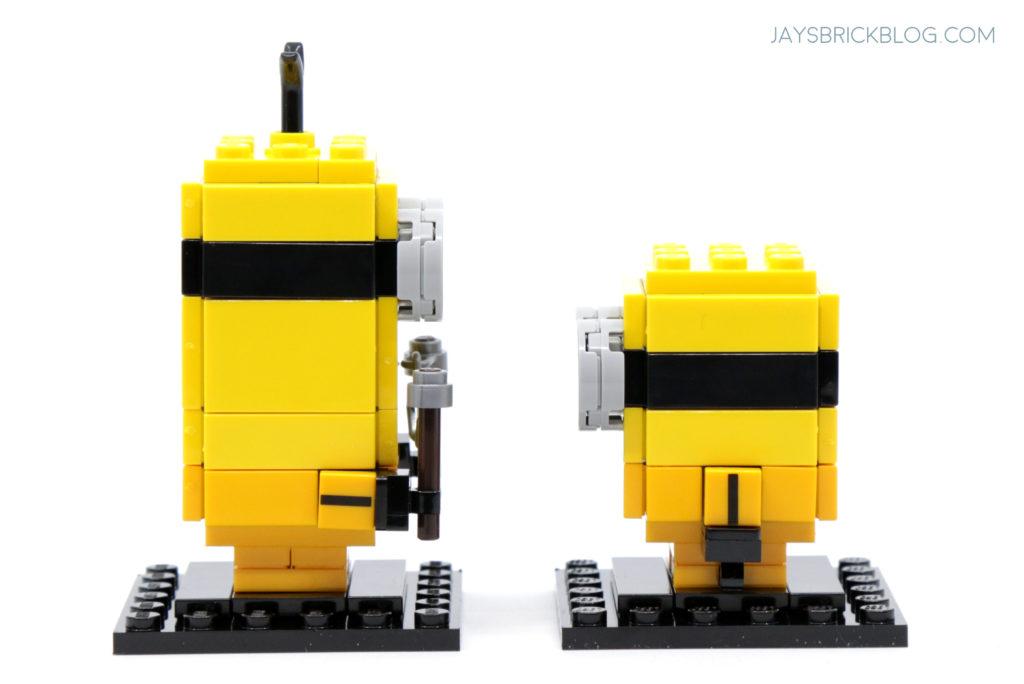 LEGO Minions Kevin and Bob Kungfu Brickheadz Side