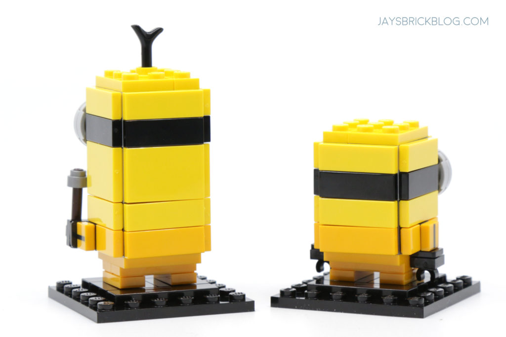 LEGO Minions Minions Kevin and Bob Kungfu Brickheadz Back