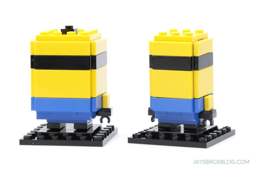 LEGO Minions Stuart and Bob Brickheadz Back