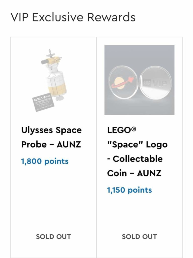 LEGO Ulysses Space Probe Sold Out