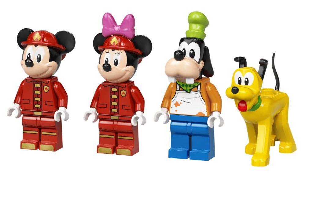 10776 Mickey Friends Fire Truck Station Minifigures