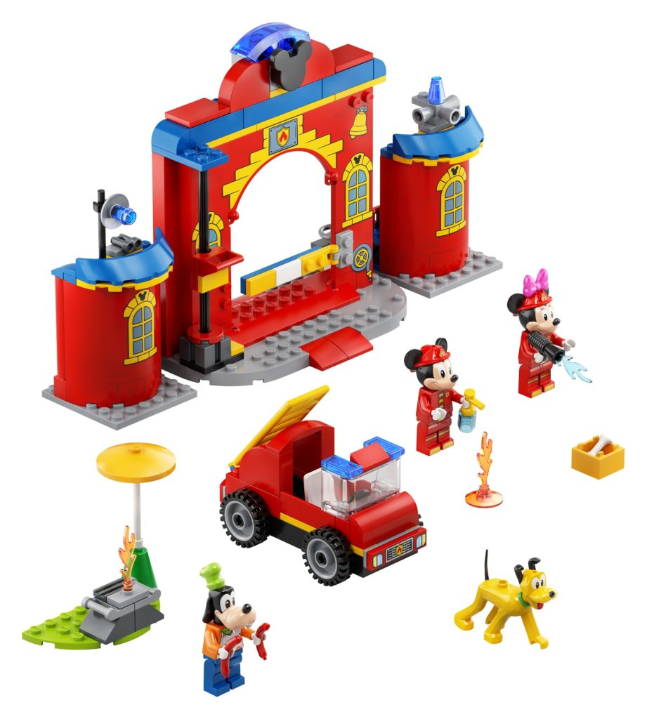 10776 Mickey Friends Fire Truck Station Product Photo