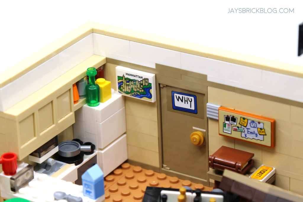 LEGO 10292 The Friends Apartments Manhattan Poster and Door Sign