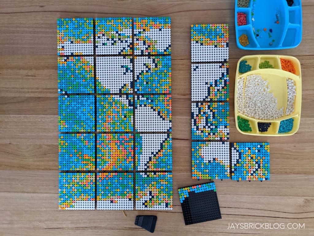 LEGO 31203 World Map Progress So Far