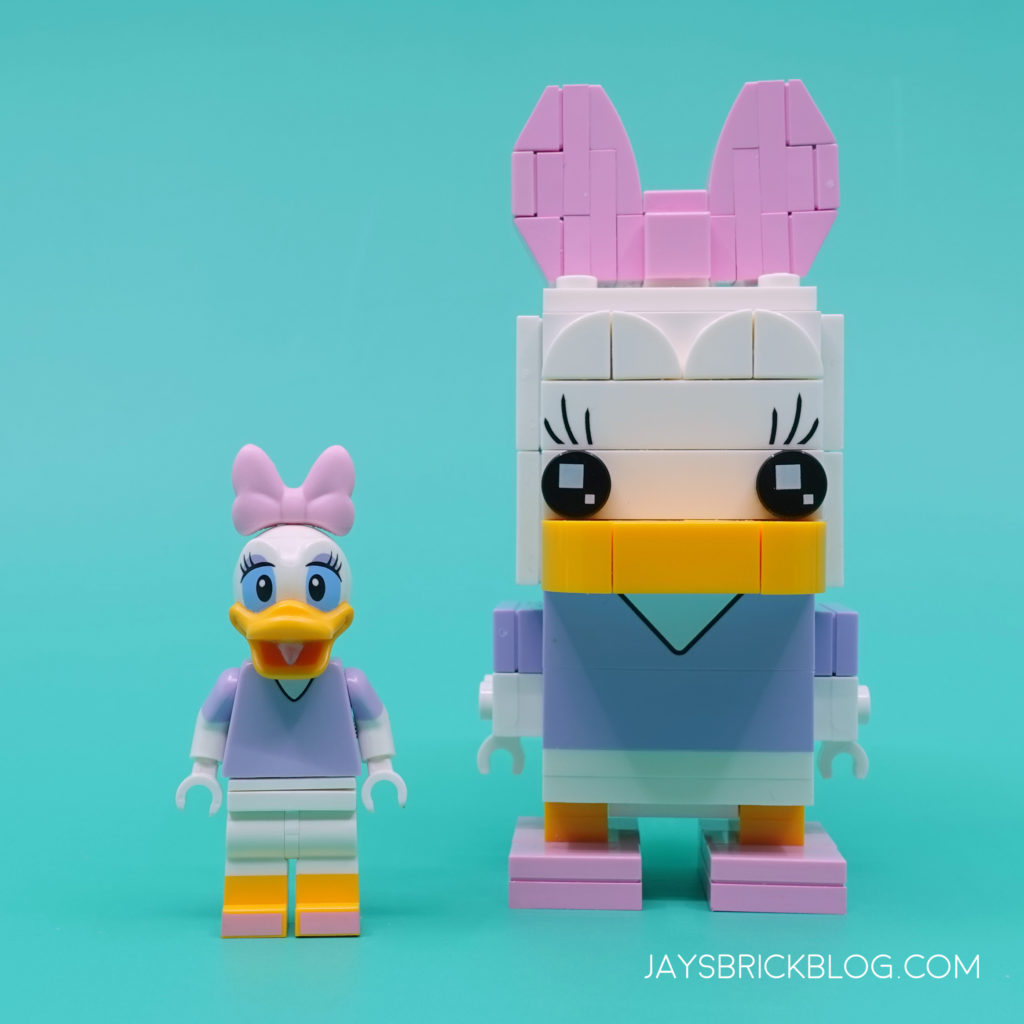 LEGO 40476 Daisy Duck Brickheadz Minifigure Comparison