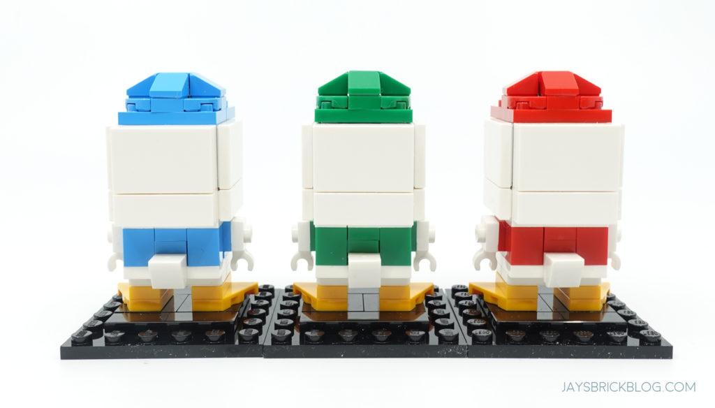 LEGO 40477 Ducktales Brickheadz Dewey Louie Huey Back