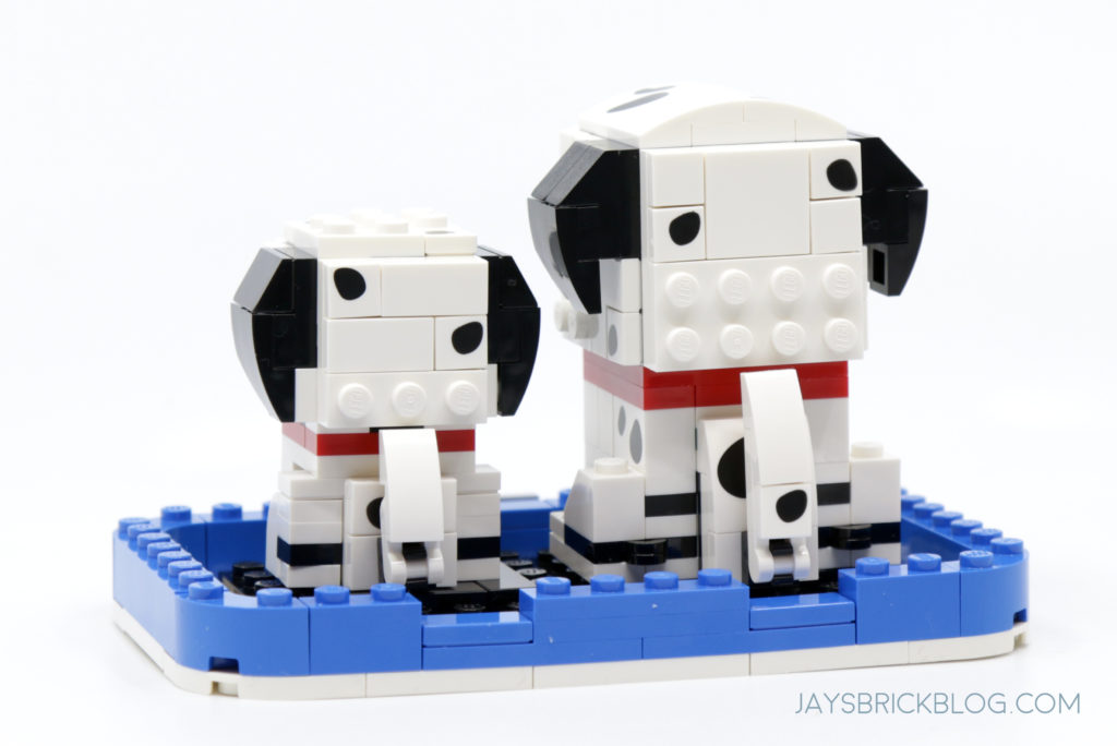 LEGO 40479 Dalmatian Brickheadz Back View