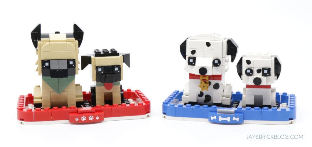 LEGO 40479 Dalmatian Brickheadz German Shephard and Dalmatian