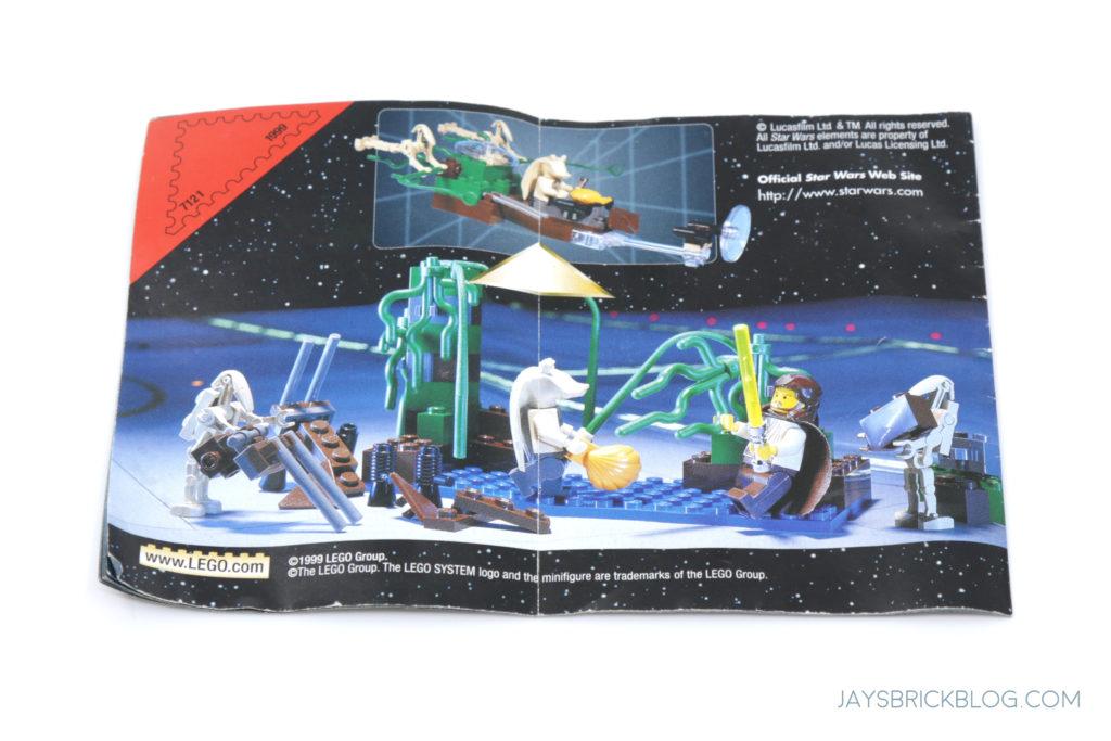 LEGO 7121 Naboo Swamp Instruction Manual Back