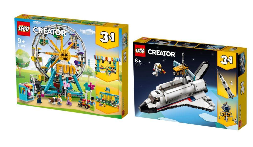 LEGO Creator 3 in 1 Summer 2021 Ferris Wheel and Space Shuttle