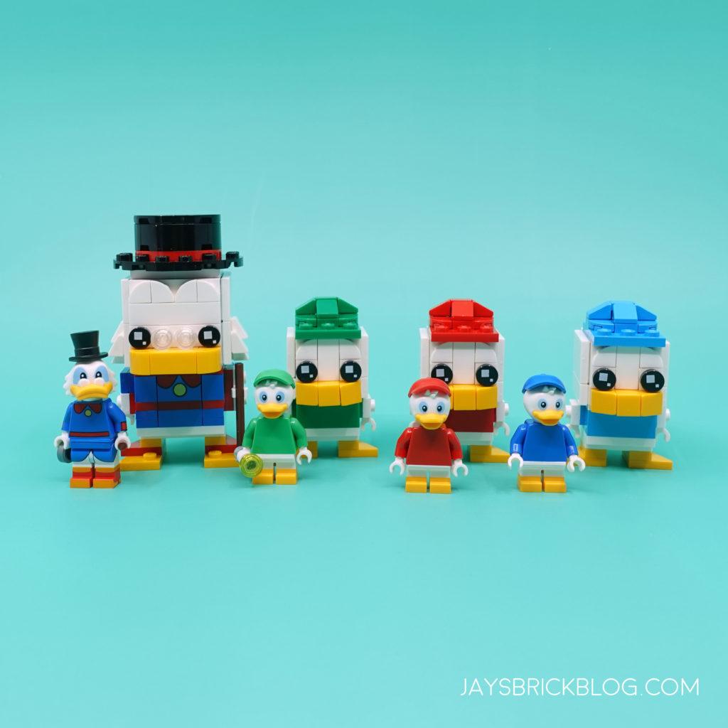 LEGO Duck Tales Brickheadz and Minifigure