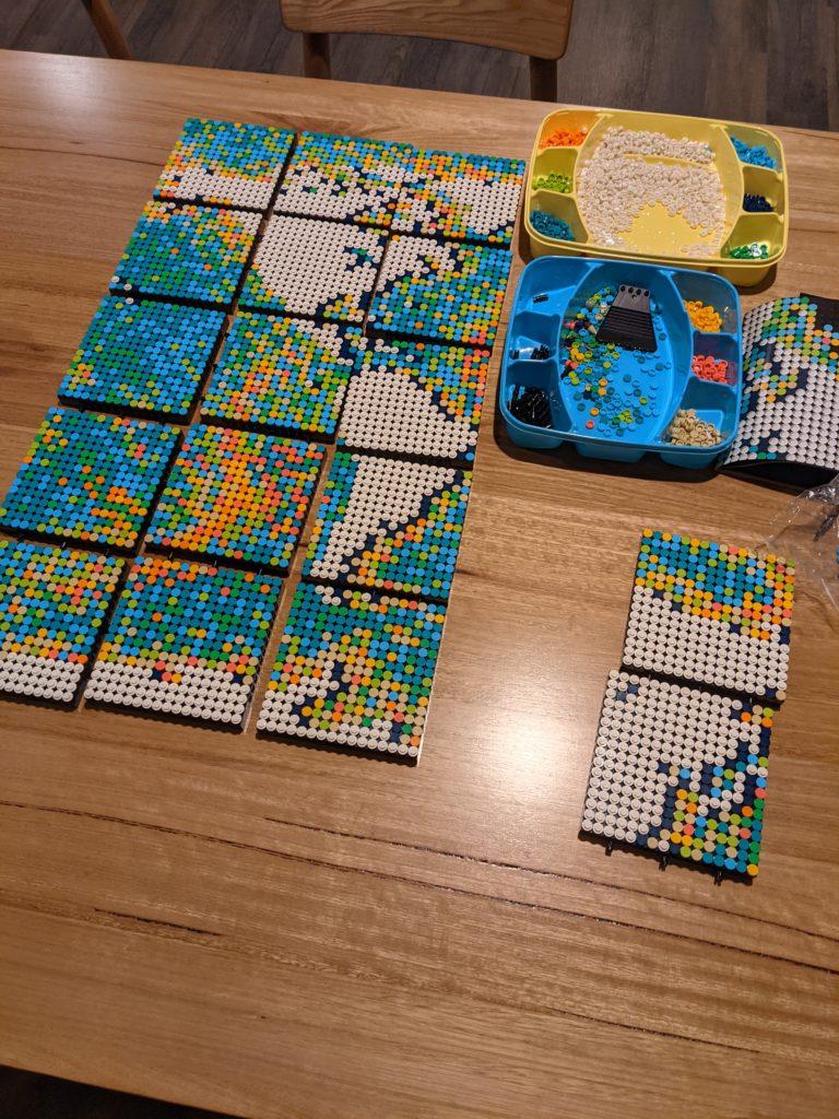 LEGO World Map In Progress