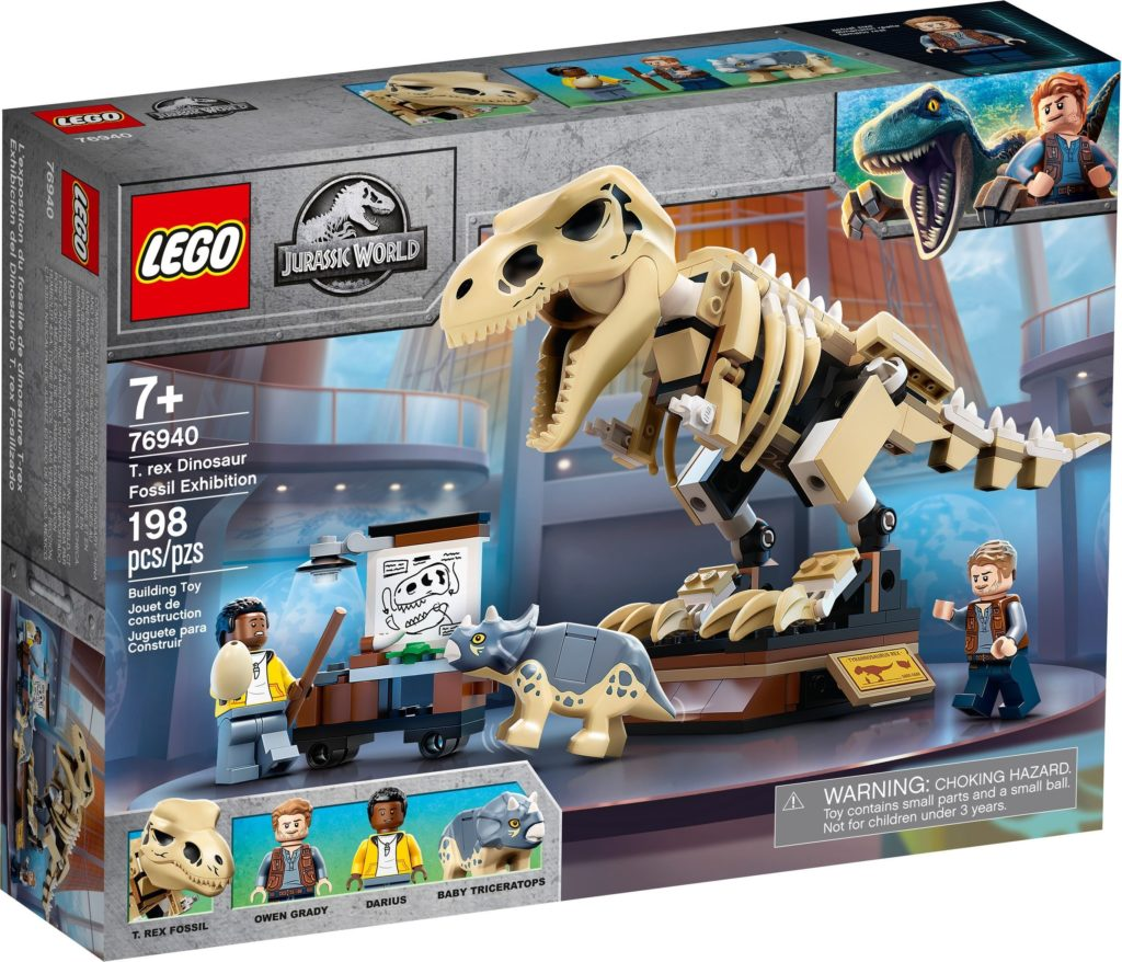 76940 T. rex Dinosaur Fossil Exhibition Box Front