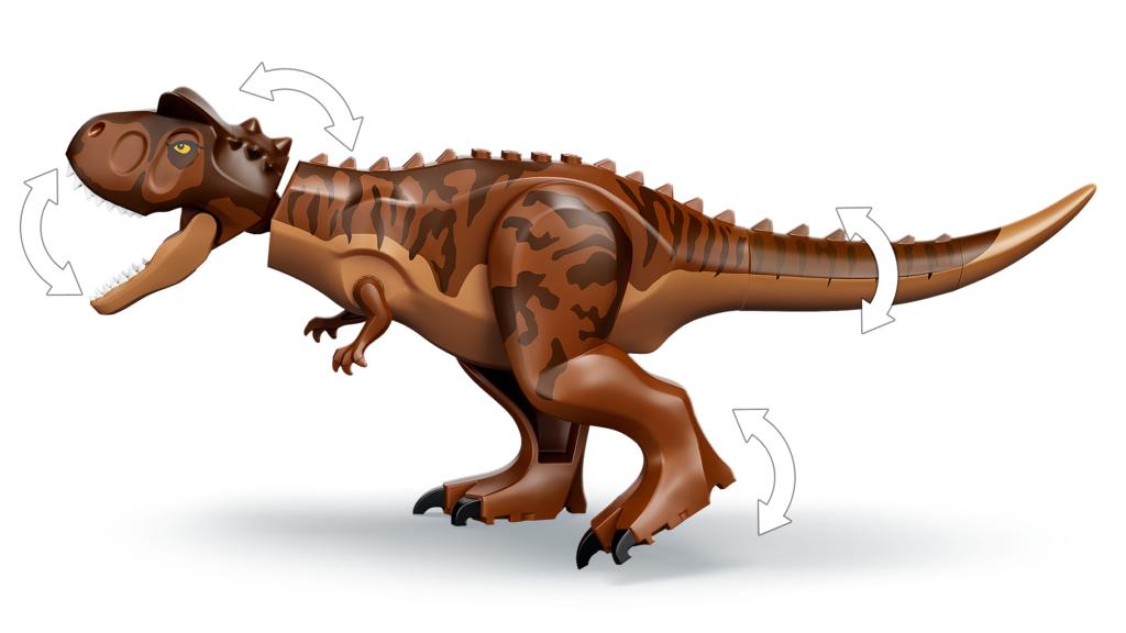 76941 Carnotaurus Dinosaur Chase Side View Carnotaurus
