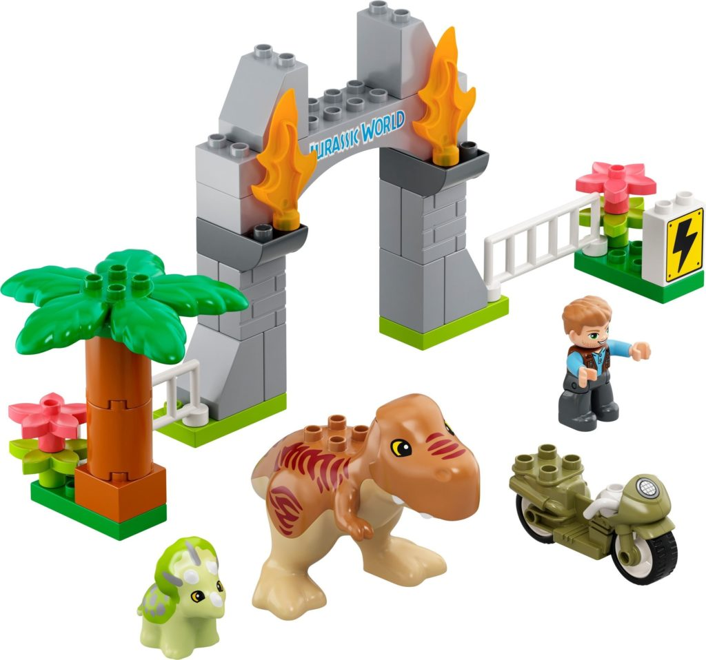Duplo 10939 T. rex and Triceratops Dinosaur Breakout Set