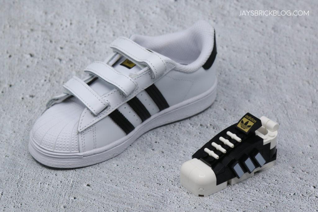 LEGO 40486 Mini Adidas Superstar Kids Shoe Comparison