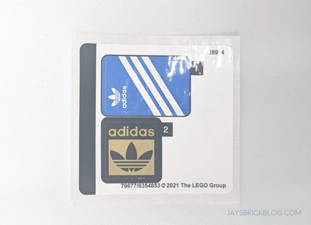 LEGO 40486 Mini Adidas Superstar stickers