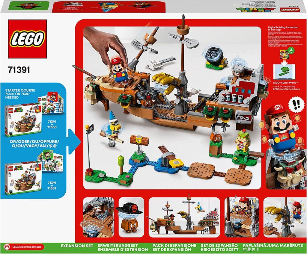 LEGO 71391 Bowsers Airship Box Back