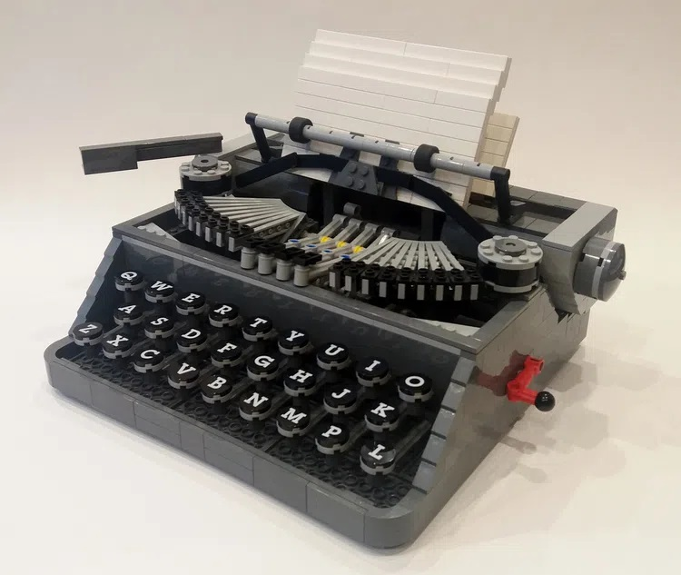LEGO ideas Typewriter Steve Guinness Submission