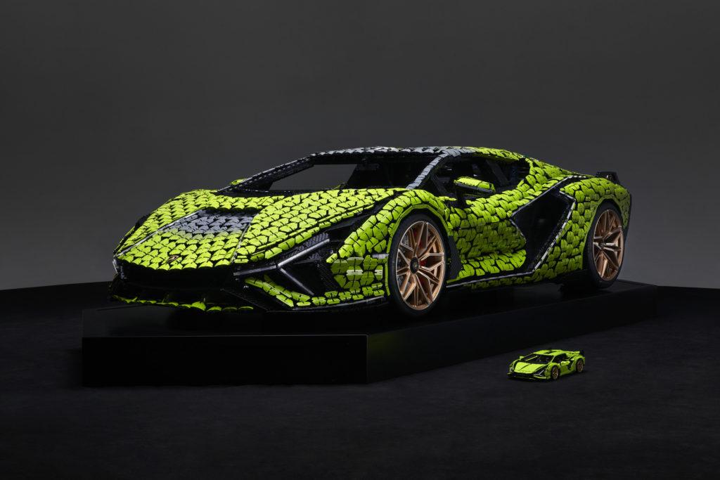Life size LEGO Technic Lamborghini Sian FKP 37 16