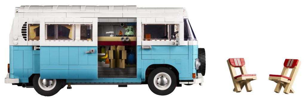 10279 Volkswagen T2 Campervan Side with Chairs