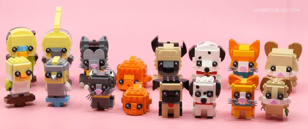 All LEGO Brickheadz Pets Complete