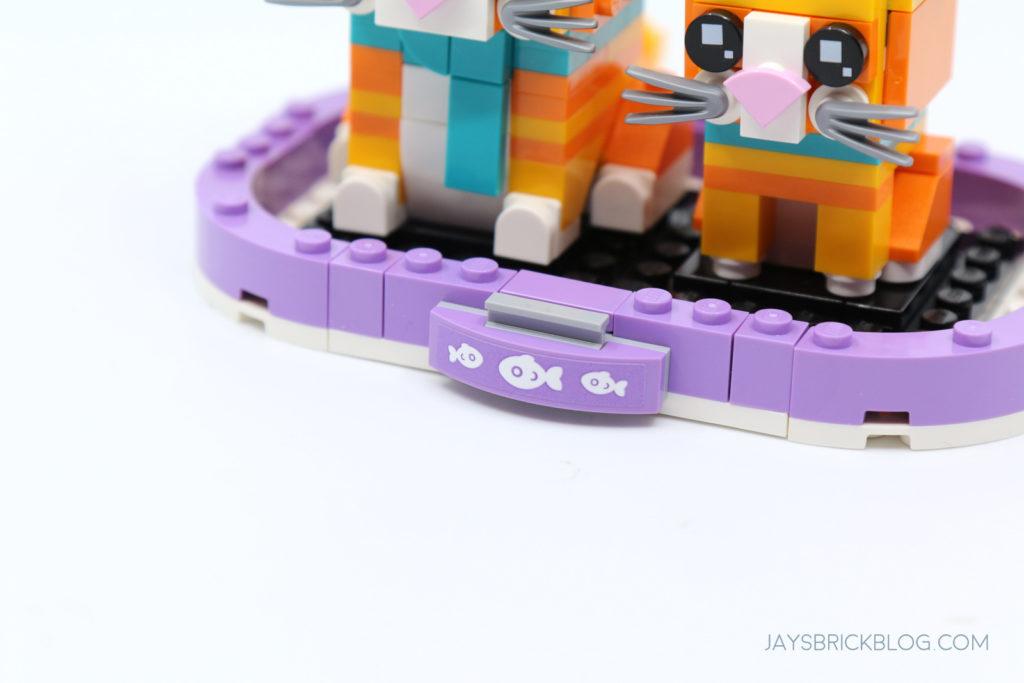LEGO 40480 Brickheadz Tabby Cats Alternate Plaque