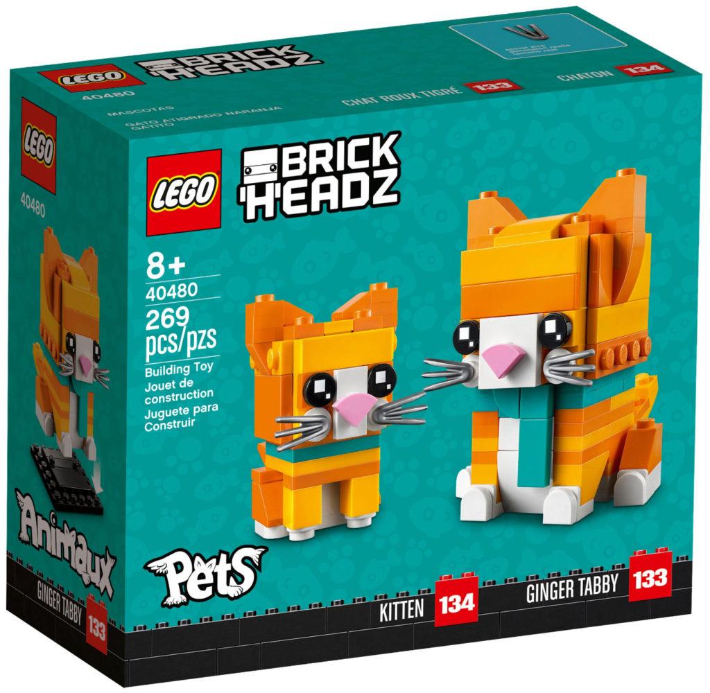LEGO 40480 Brickheadz Tabby Cats Box