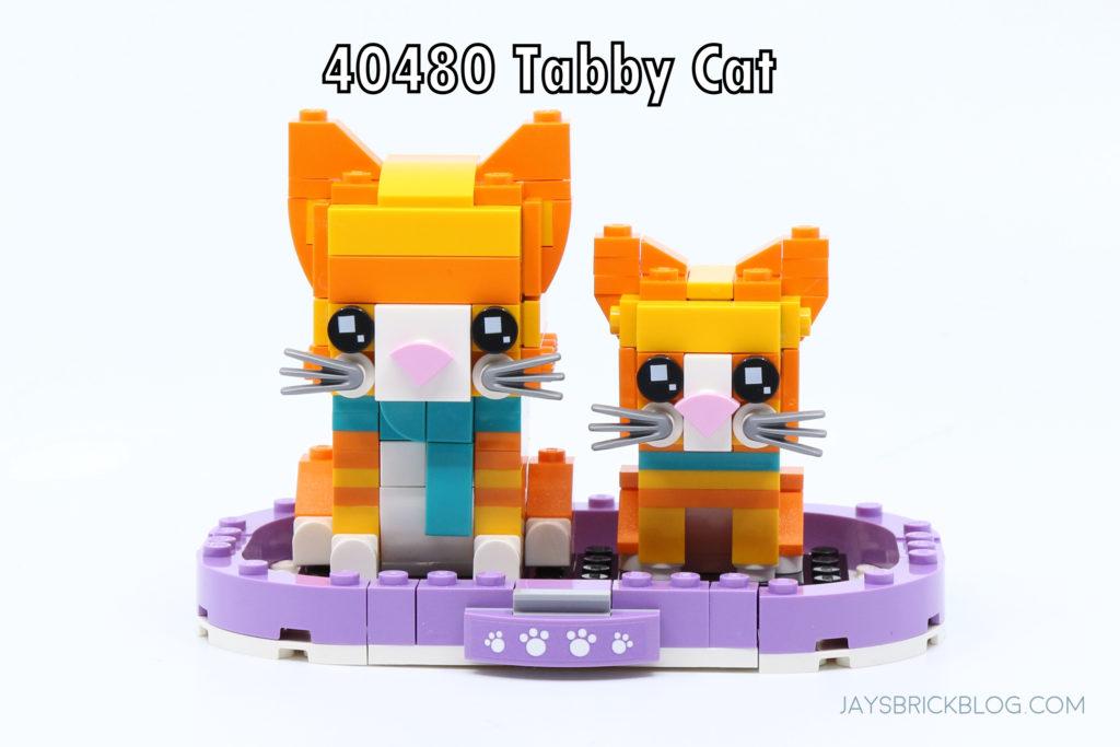 LEGO 40480 Brickheadz Tabby Cats Set Photo