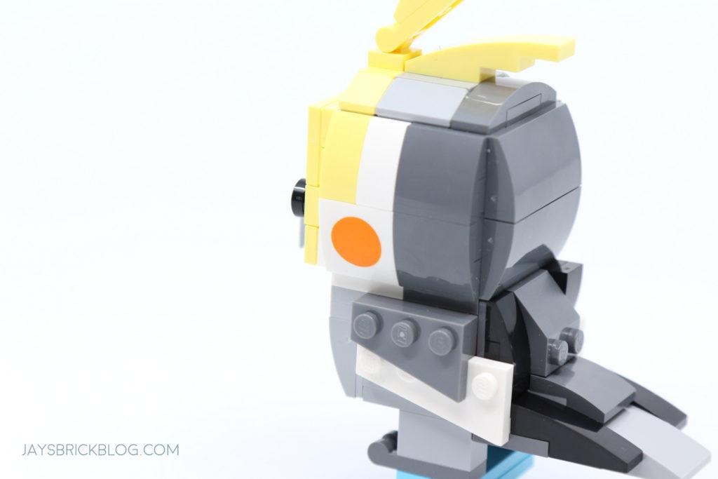 LEGO 40481 Brickheadz Cockatiel Adult Side