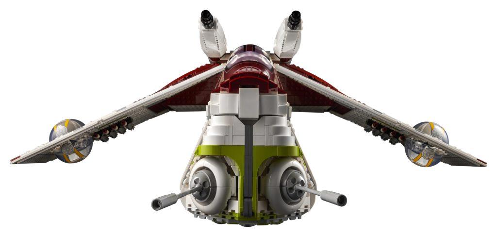 LEGO 75309 UCS Republic Gunship Front View