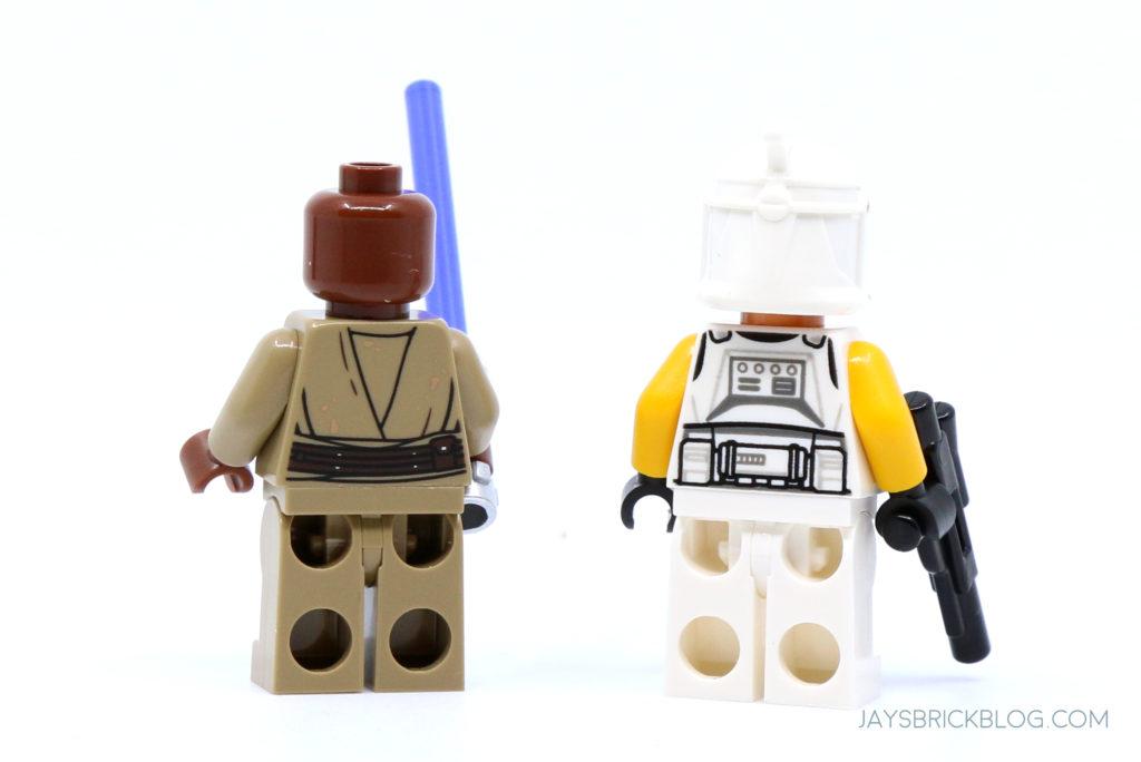 LEGO 75309 UCS Republic Gunship Mace Windu and Clone Commander Ponds Minifigures Back