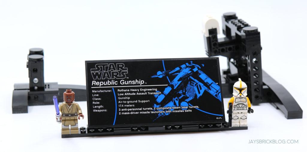 LEGO 75309 UCS Republic Gunship UCS Display Plaque
