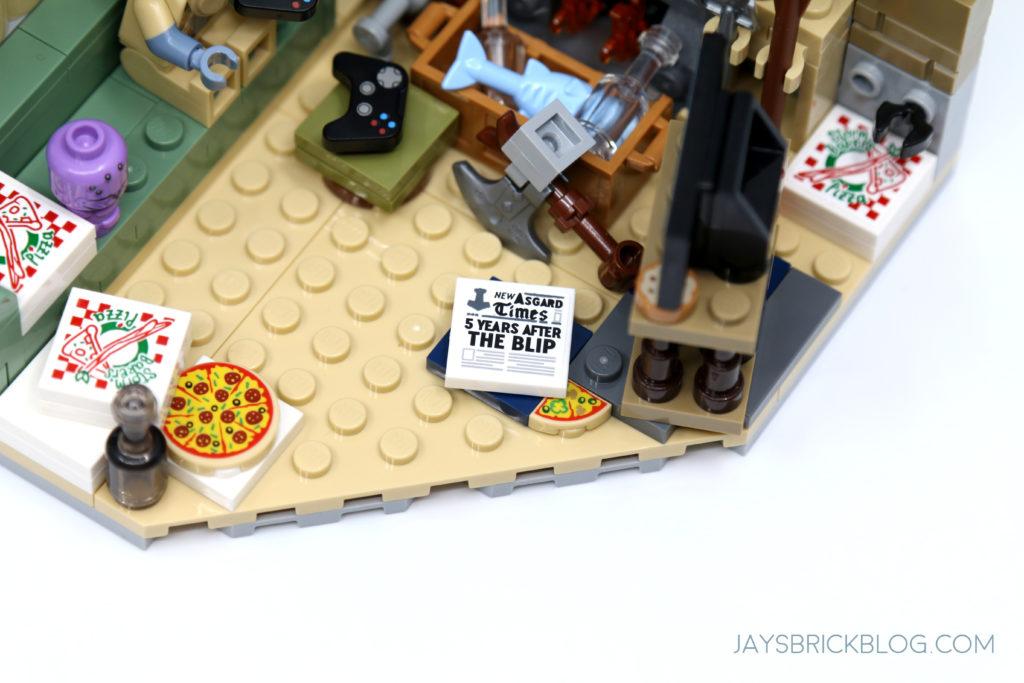 LEGO 76200 Bro Thors New Asgard Newspaper