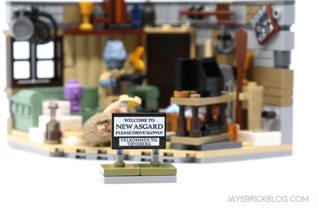 LEGO 76200 Bro Thors New Asgard Welcome to New Asgard Sign