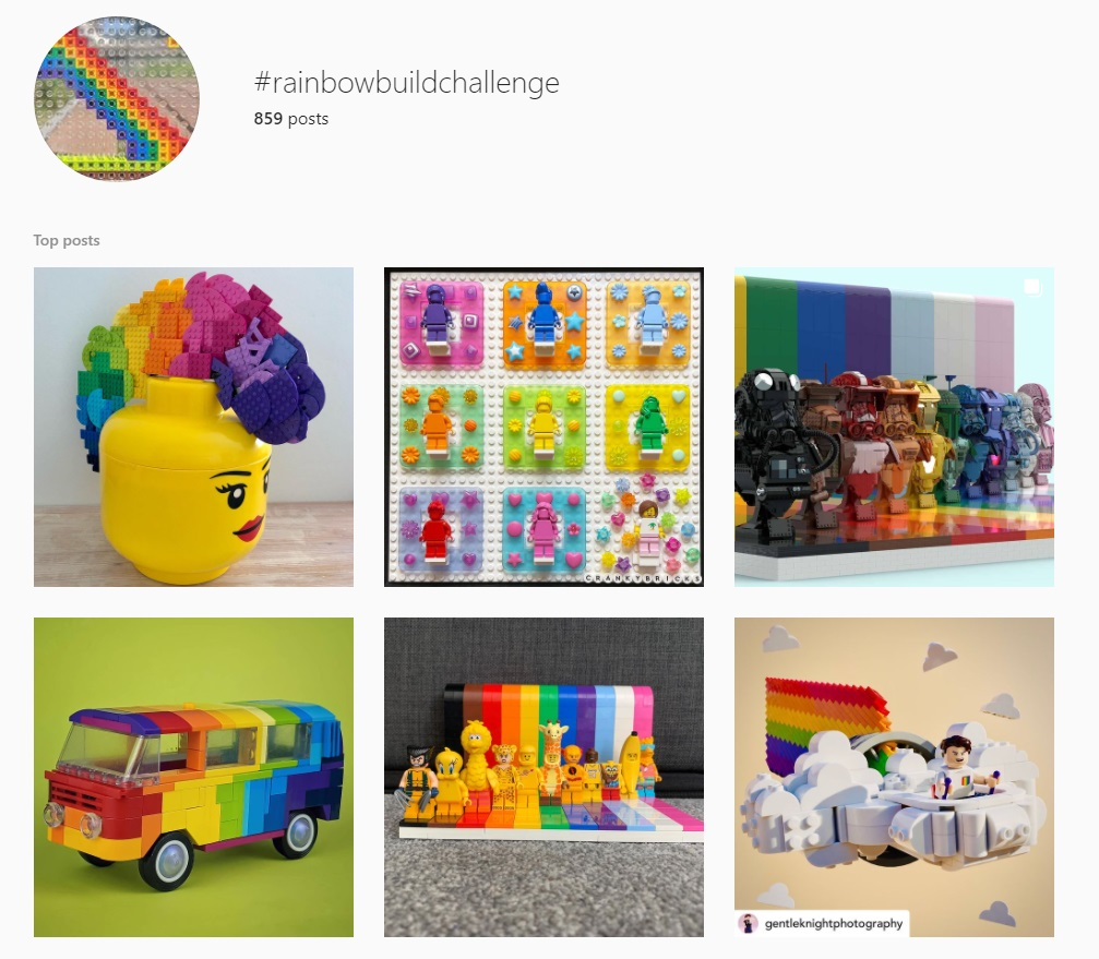 Rainbow Build Challenge Trickybricks