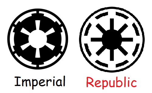 Star Wars Imperial and Republic Logo
