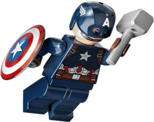 LEGO Captain America Minifigure Infinity War 2021 Thor Hammer and Shield